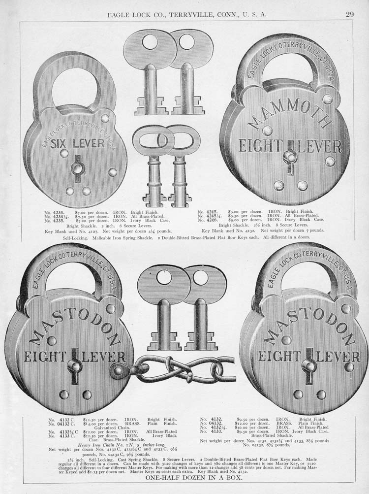 Mastodon Eight Lever P... Antique Lock